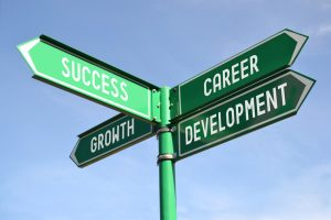 career crossroads sign