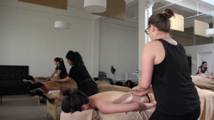 massage class in session