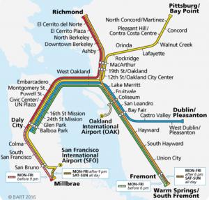 bay area rapid transit map