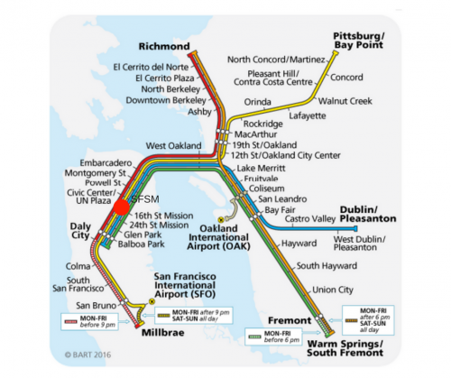 bay area rapid transit map